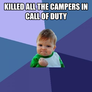 Killed the campers
