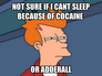 not sure if i cant sleep because of cocaine