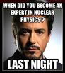 when did you become an expert in nuclear physics ?