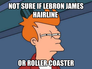 not sure if lebron james hairline